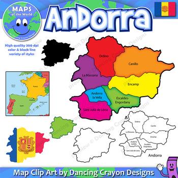 Maps of Andorra - Clip Art Map Set