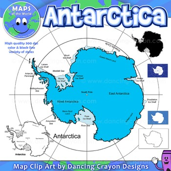 Antarctica Maps: Clip Art Map Set by Maps of the World | TpT