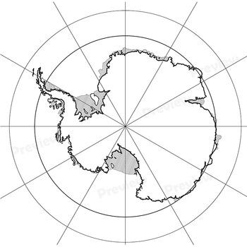 Antarctica Maps: Clip Art Map Set