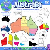 Maps of Australia and Australian States