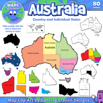 Australia Map And States.Maps Of Australia And Australian States