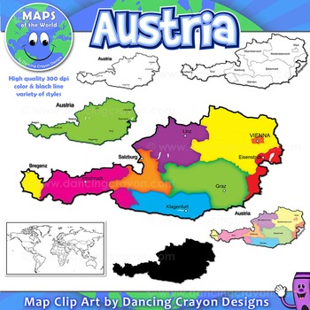 Maps of Austria: Clip Art Maps