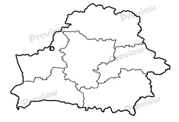 Maps of Belarus: Clip Art Map Set