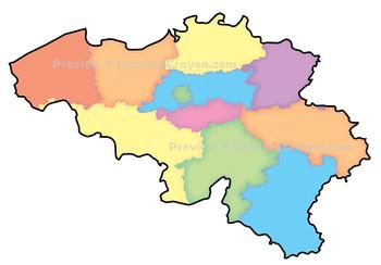 Maps of Belgium: Clip Art Map Set