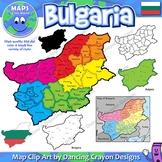 Maps of Bulgaria: Clip Art Map Set