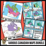 Maps of Canada Clip Art Bundle | Canadian Maps Clipart