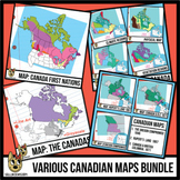 Maps of Canada Clip Art Bundle | Canadian Maps Clipart