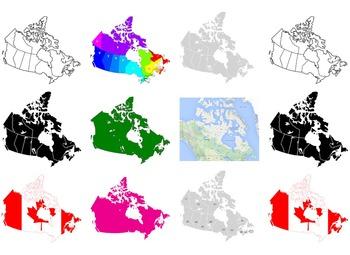 Maps of Canada: Clip Art Canada Maps