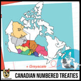 Maps of Canada Clip Art: Numbered Treaties
