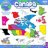 Canada: Clip Art Maps of Canada