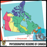 Maps of Canada Clip Art: Physiographic Regions