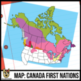 Maps of Canada Clipart: First Nations