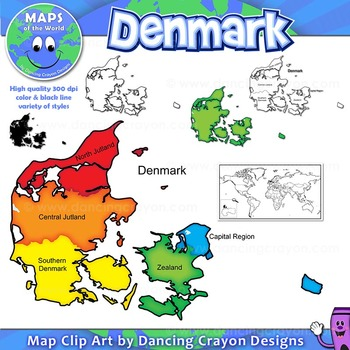 Maps of Denmark: Clipart Maps
