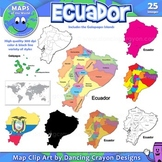 Maps of Ecuador: Clip Art Map Set