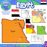 Egypt Maps: Clip Art Map Set