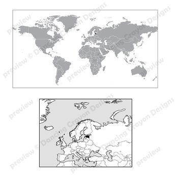 Maps of Estonia: Clip Art Map Set