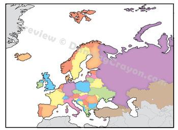 Maps of Europe: Clip Art Map Set