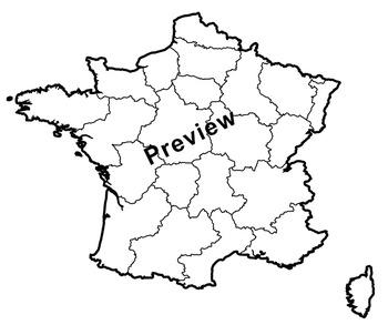Clip Art Maps of France | Clipart Map Set