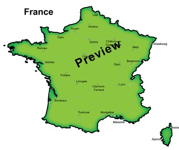 Clip Art Maps of France | Clipart Map Set