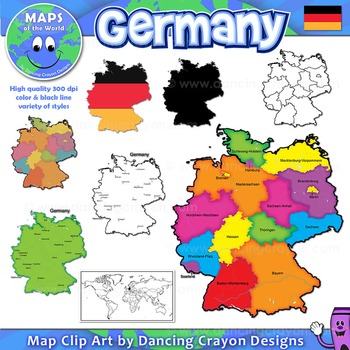 Maps of Germany: Clipart Maps