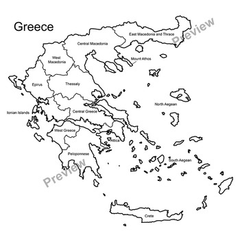 Maps of Greece Clipart