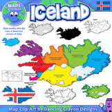 Maps of Iceland: Clip Art Map Set