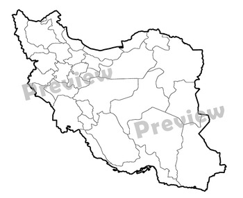 Maps of Iran: Clip Art Maps