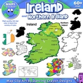 Ireland: Maps of Ireland Clipart