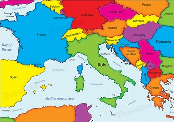 Maps of Italy: Clip Art Map Set