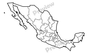 Maps of Mexico: Clip Art Map Set