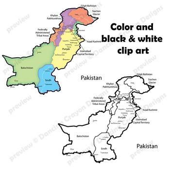 Maps of Pakistan: Clip Art Map Set