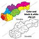 Maps of Slovakia: Clip Art Map Set