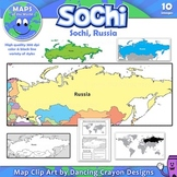 Maps of Sochi / Russia: Clip Art Map Set