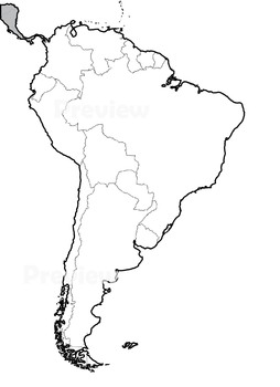 Maps Of South America Black And White Bundle