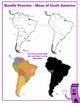 Maps of South America: Clip Art Map BUNDLE