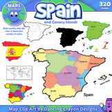 Maps of Spain: Clip Art Map Set
