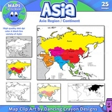 Asia: Clip Art Map Set