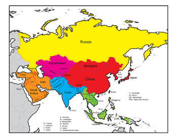 Asia: Clip Art Map Set