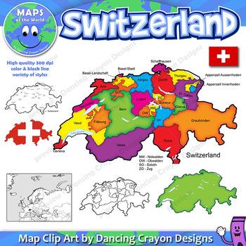 Maps of Switzerland: Clip Art Map Set