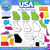 Maps of US States: Clip Art Map Set
