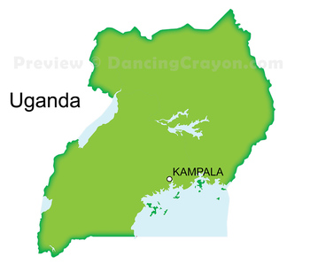 Maps of Uganda: Clip Art Map Set
