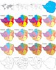 Maps of Zimbabwe: Clip Art Map Set