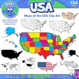 Maps of the USA: Clip Art Map Set