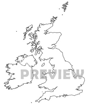 Maps of the United Kingdom: UK Clip Art Map Set