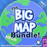 Maps of the World Clip Art - MEGA-BUNDLE