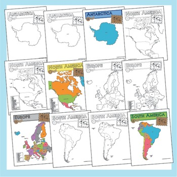 Maps of the World and United States Pack - BUNDLE