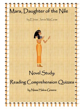 Mara, Daughter of the Nile Novel Study: Pop Reading Comprehension Quizzes