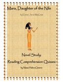 Mara, Daughter of the Nile Novel Study: Pop Reading Compre