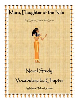 Mara, Daughter of the Nile Novel Study: Vocabulary by Chapter