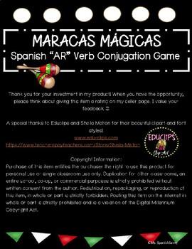"Maracas Mágicas- Present Tense ""AR"" Verb Conjugation Game"